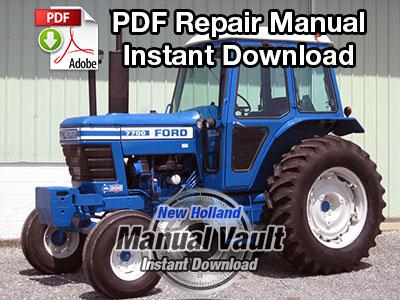Ford 2600, 3600, 4100, 4600, 5600, 6600, 6700, 7600, 7700 Tractor Repair Manual