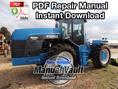 Ford 9280, 9480, 9680, 9880, 9282, 9482, 9682, 9882 Tractor Repair Manual