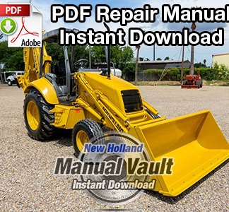 New Holland 555E, 575E, 655E, 675E Tractor Loader Backhoe Repair Manual
