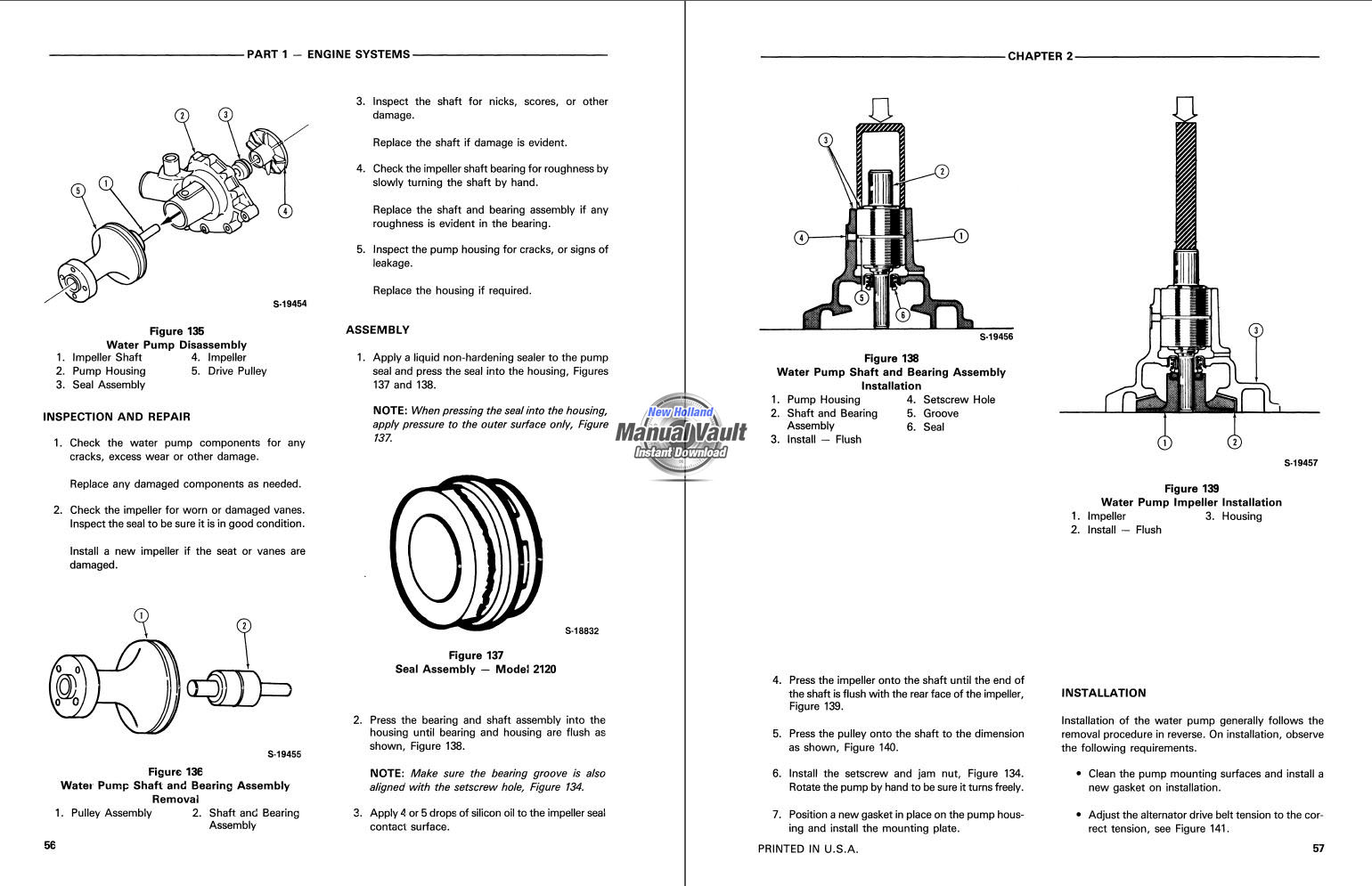New Holland Tractor Manuals : Ford new holland tractor repair manual