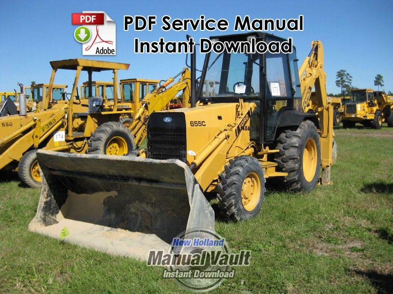 Ford 555c Backhoe Parts : Ford c tractor loader backhoe service