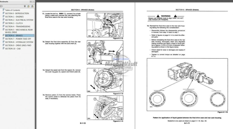Ford New Holland 8160  8260  8360  8560 Tractor Service