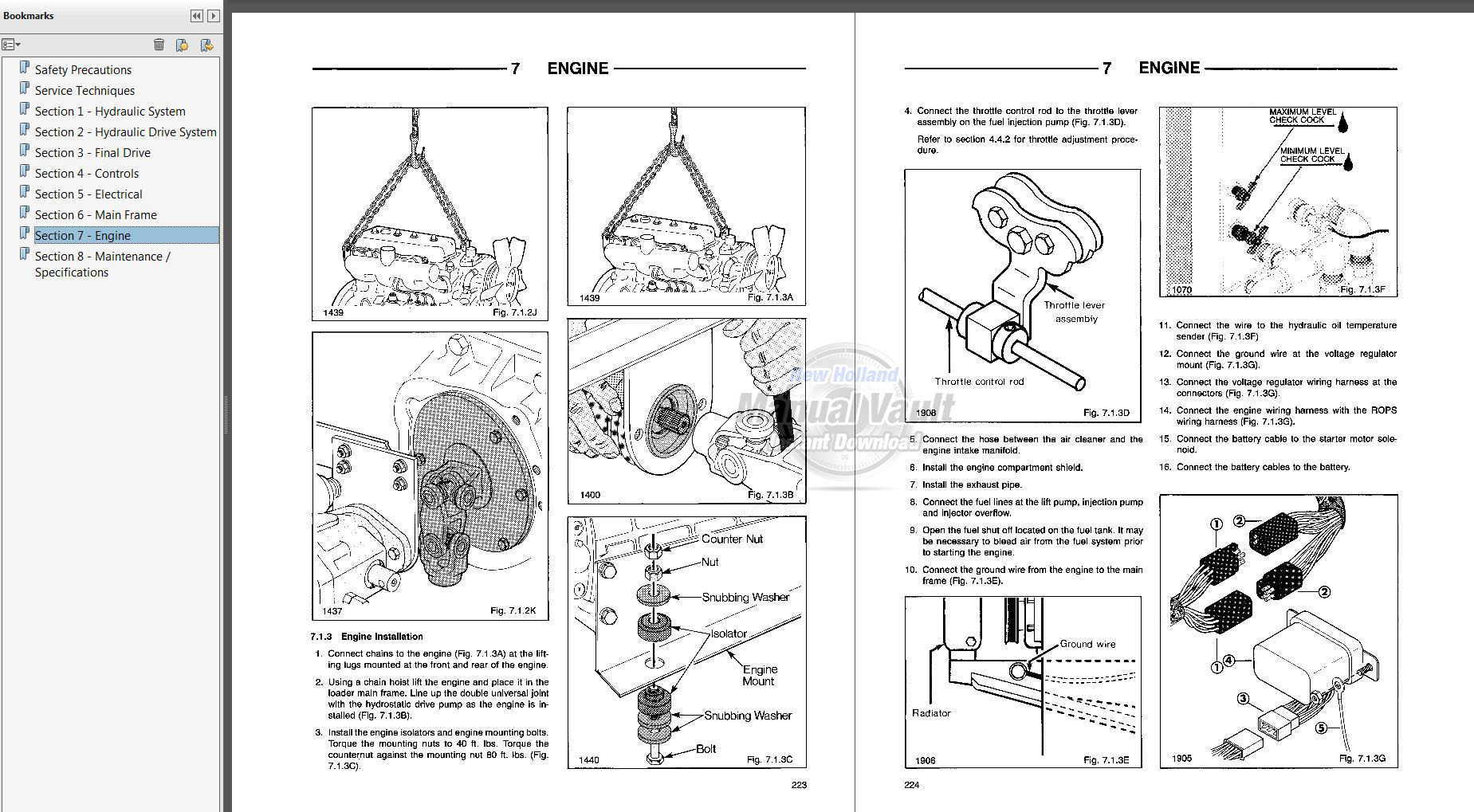 Ford Cl35 Cl45 Skid Steer Loader Repair Manual