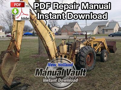 Ford 713 Series Backhoe Repair Manual