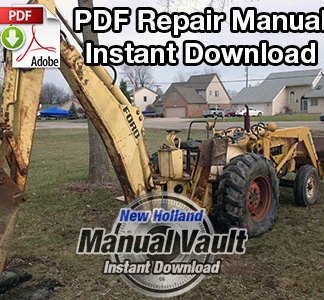 Ford 713 Series Backhoe Repair Manual
