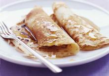 Pancakes with golden syrup!