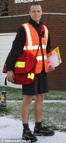 Postman in his shorts!