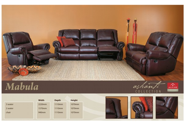 New Home Furnishers 187 Mabula Recliner Lounge Suite By
