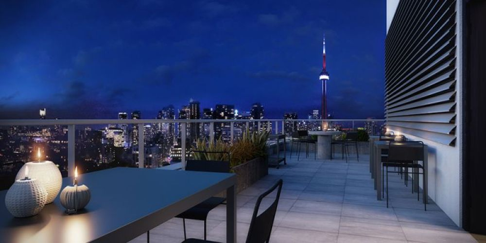 Kingly Condos rooftop terrace