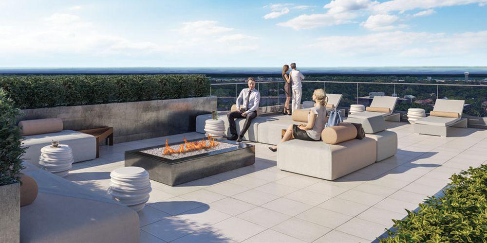 Platform Condos on the Danforth - terrace
