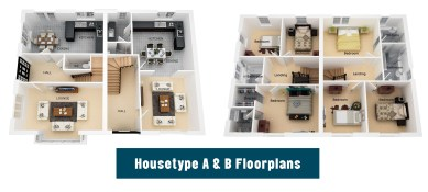 A and B floor plans