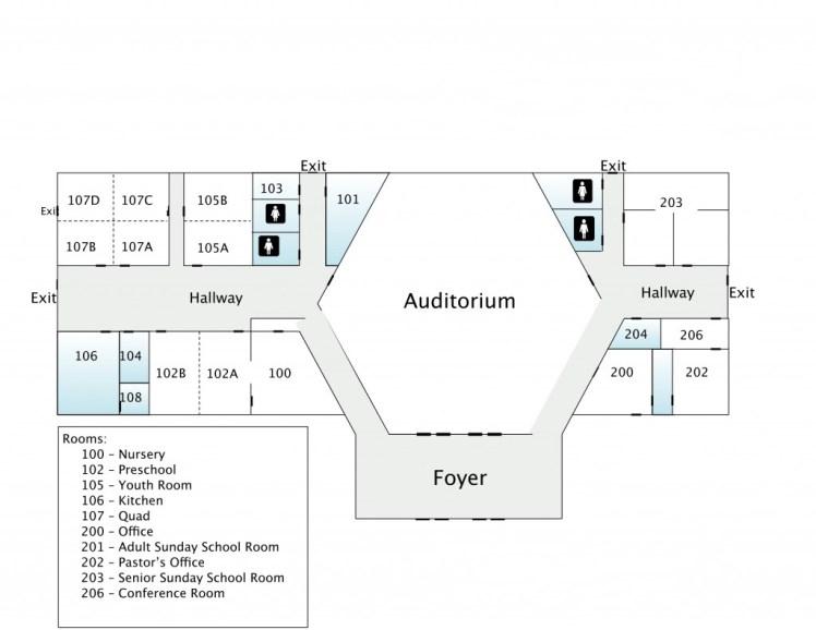 church map layout