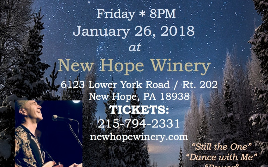 Lambertville-New Hope Winter Fest with the John Hall Band at the New Hope Winery