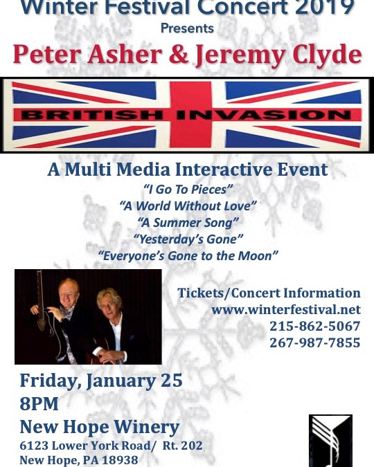 WinterFestival Concert: The British Invasion – Peter Asher & Jeremy Clyde