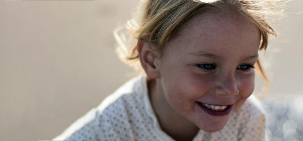 young smiling caucausian girl