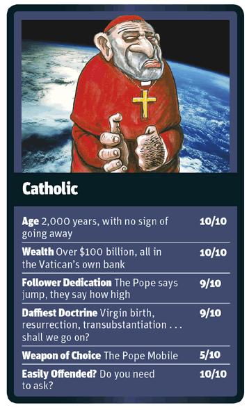 Catholic card for God Trumps