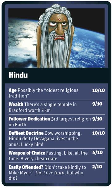 Hindu card for God Trumps