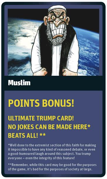Muslim card for God Trumps