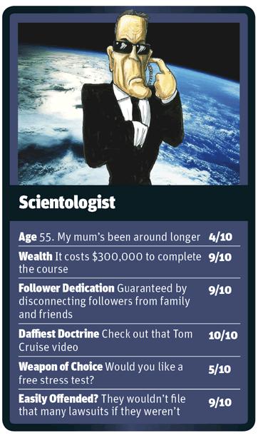 Scientologist card for God Trumps