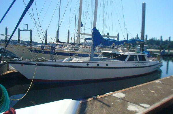 1983 Custom Pilothouse Sloop Express Motorsailer Sail Boat For Sale
