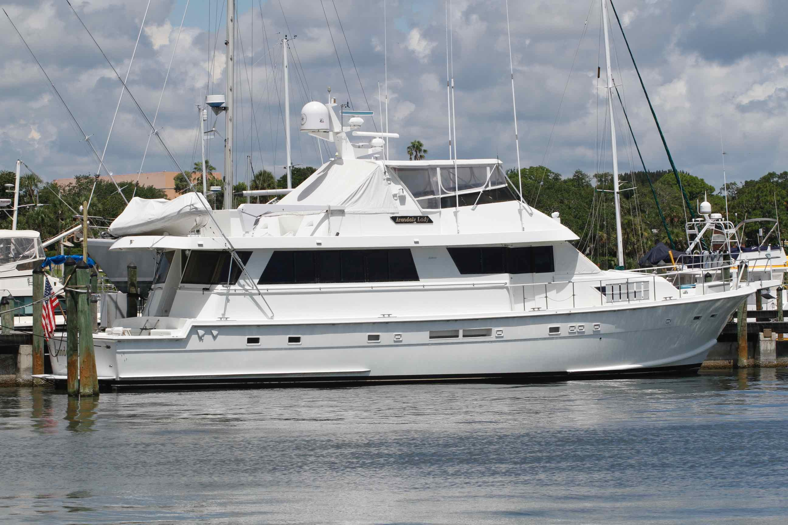 1989 Hatteras 74 CPMY Power New And Used Boats For Sale