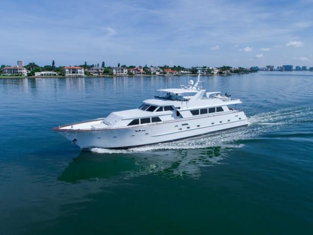 1987 Broward Pilot House Motor Yacht Power Boat For Sale