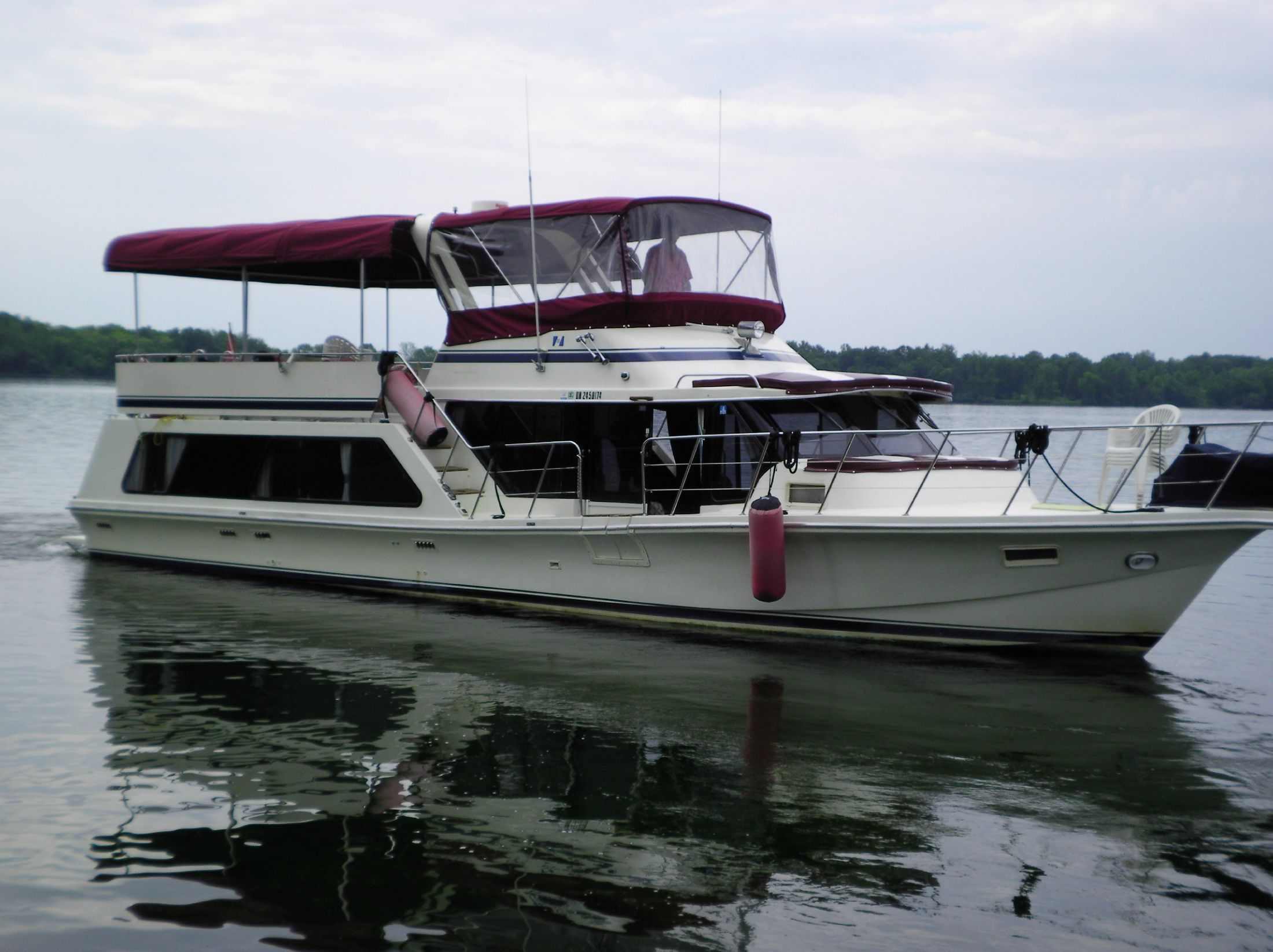 1986 Bluewater 51 Coastal Cruiser Power Boat For Sale