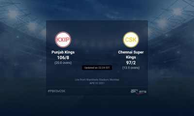 Punjab Kings vs Chennai Super Kings live score over Match 8 T20 11 15 updates | Cricket News
