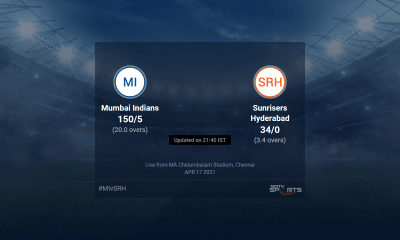 Mumbai Indians vs Sunrisers Hyderabad live score over Match 9 T20 1 5 updates | Cricket News