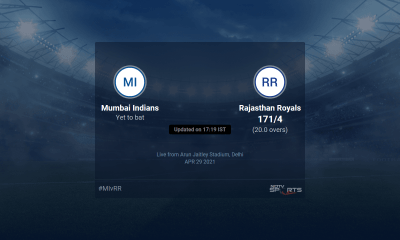 Mumbai Indians vs Rajasthan Royals live score over Match 24 T20 16 20 updates | Cricket News