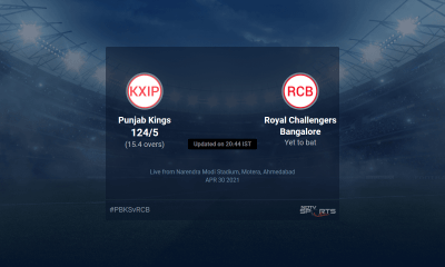 Punjab Kings vs Royal Challengers Bangalore live score over Match 26 T20 11 15 updates | Cricket News