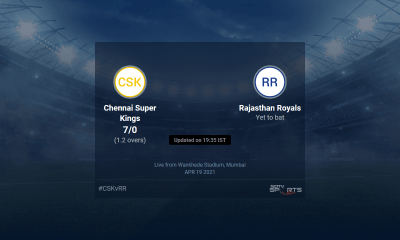 Chennai Super Kings vs Rajasthan Royals live score over Match 12 T20 1 5 updates | Cricket News