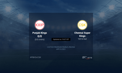 Punjab Kings vs Chennai Super Kings live score over Match 8 T20 1 5 updates | Cricket News