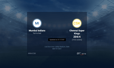 Mumbai Indians vs Chennai Super Kings live score over Match 27 T20 16 20 updates | Cricket News