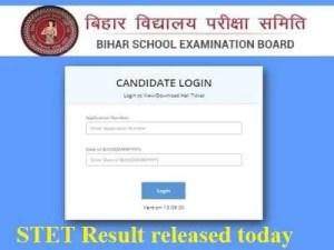Bihar_STET_result_2019, Bihar STET 2019 result