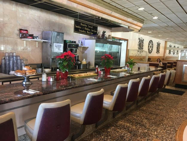 rustic mill diner counter