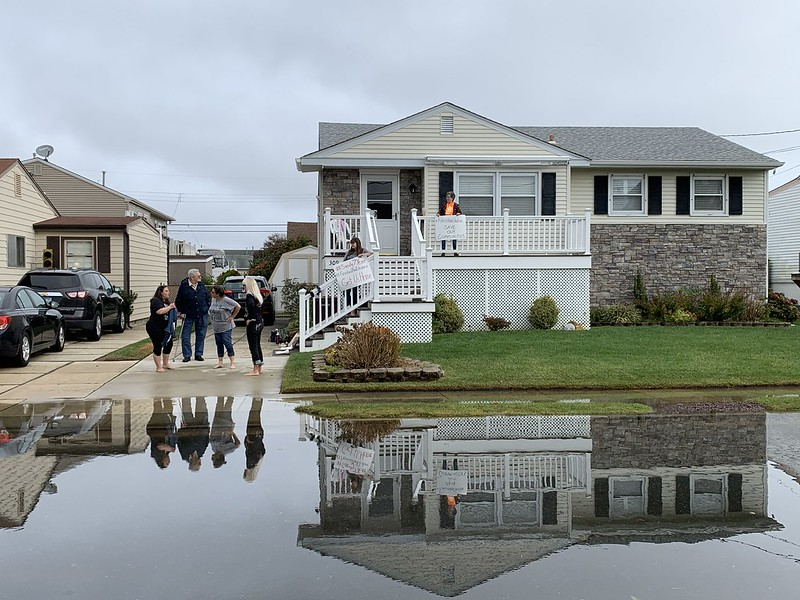 Fran Baronowitz's home was nearly inaccessible Tuesday, Oct. 29 due to flooding on the 7th anniversary of Superstorm Sandy.