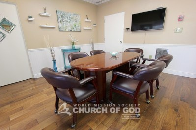 World Mission Society Church of God in Ridgewood, New Jersey Group Study Room
