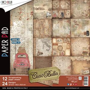 papier ciao bella scrapbooking vintage 30x30