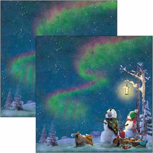 papier-scrapbooking-northern lights-feuille 11