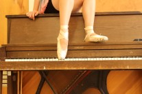 Piano & ballet slipper
