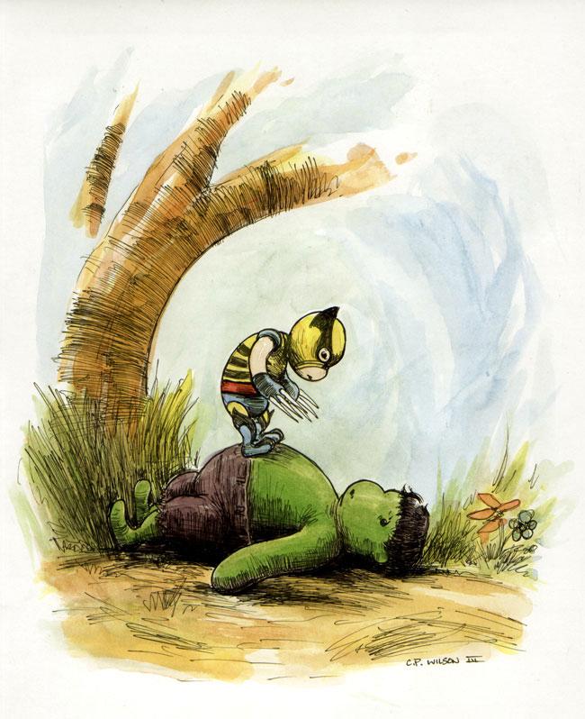 Will doch nur Freunde finden: Winnie The Hulk von Charles Paul Wilson III
