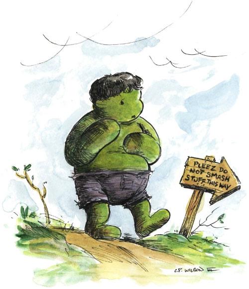 Winnie The Hulk von Charles Paul Wilson III