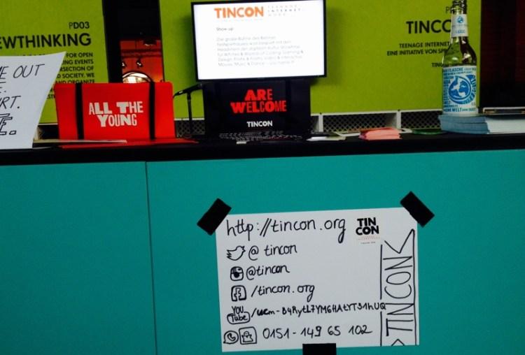 Stand der TINCON auf der re:publica 2015. 2016 soll ihr Ableger für Kinder erstmals stattfinden.