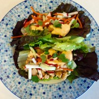 Chicken Banh Mi Lettuce Wraps