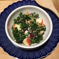 Quinoa, Apple and Kale Salad with Honey Mustard Dressing