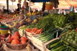 fresh veg at the market