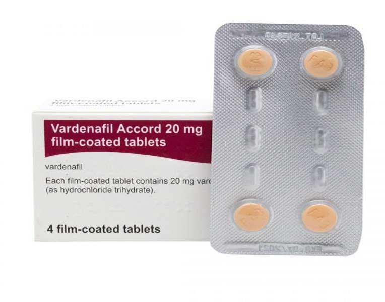 Vardenafil Accord 4 Film Coated Tablet ( 5 mg, 10 mg, 20 mg )