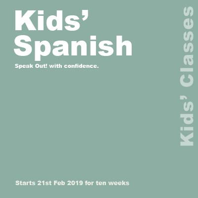 Kids' Spanish web banner