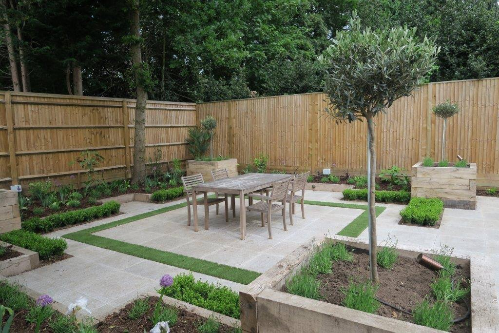 Small Contemporary Paved Garden | New Leaf Landscape Gardener on Landscape Garden Designs For Small Gardens id=13152